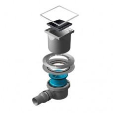 Точечный душевой трап Confluo Standard Black Glass 1 13000089