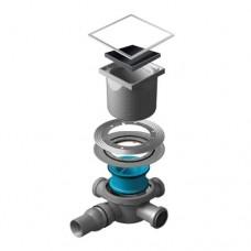 Точечный душевой трап Confluo Standard Black Glass 3 13000091