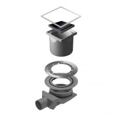 Точечный душевой трап Confluo Standard Black Glass 4 13000092