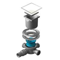 Точечный душевой трап Confluo Standard White Glass 3 13000095