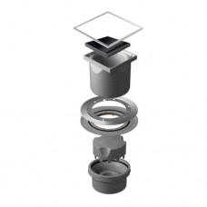 Точечный душевой трап Confluo Standard Vertical Black Glass 13000097