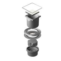 Точечный душевой трап Confluo Standard Vertical White Glass 13000098