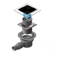 Точечный душевой трап Confluo Standard Dry 1 Black Glass 13000101