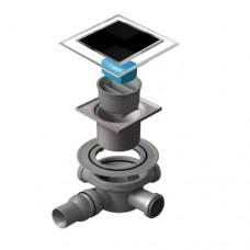 Точечный душевой трап Confluo Standard Dry 3 Black Glass 13000103