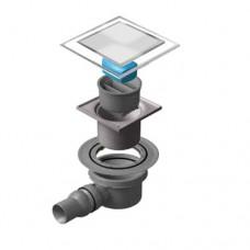 Точечный душевой трап Confluo Standard Dry 1 White Glass 13000104