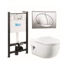 Комплект Roca Meridian 893104110 унитаз, инсталляция,сиденье,кнопка