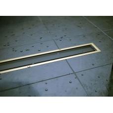 Душевой лоток Confluo Premium Gold Black Glass Line 750 с решеткой