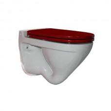 Унитаз подвесной Sanita luxe Attica Color сиденье дюропласт soft close красное
