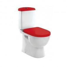 Унитаз напольный Sanita luxe Best Color дюропласт soft close красное